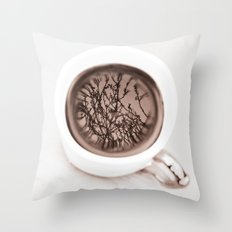Tea Twigs Throw Pillow
