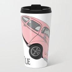Beetle with Happiness Metal Travel Mug