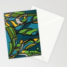 Ride the Wave Geisha Stationery Cards