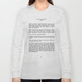 Becoming Real, Velveteen Rabbit Quote Long Sleeve T-shirt