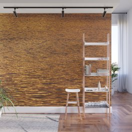 Pure Gold Water Surface Texture Wall Mural