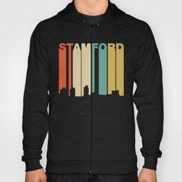 Retro 1970's Style Stamford Connecticut Skyline Hoody
