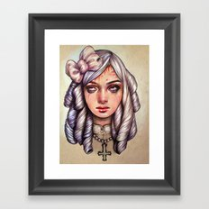 Friends in High Places Framed Art Print
