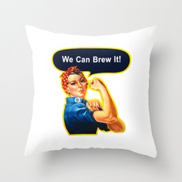 Rosie the Brewer Throw Pillow