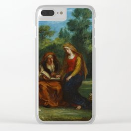 "Eugène Delacroix ""The Education of the Virgin"" Clear iPhone Case"
