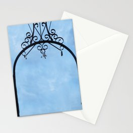 Cloud and Sky with padlock Stationery Cards