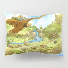 Flying On Polly Over an Enchanted Land Pillow Sham