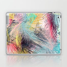 Jungle pampa colorful forest. Tropical fresh forest pattern with palms Laptop & iPad Skin