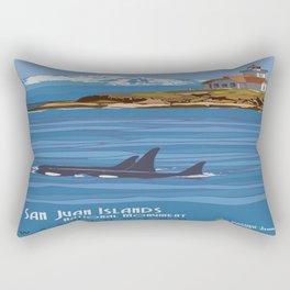 Vintage poster - San Juan Islands Rectangular Pillow