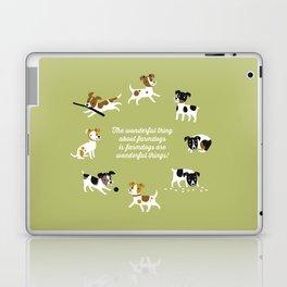 Farmdogs are wonderful things Laptop & iPad Skin