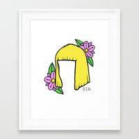 sia Framed Art Prints featuring SIA BOB by Melina Espinoza
