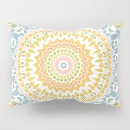 Pastel Pebbles Mandala Pillow Sham