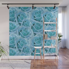 Antique Blue Rose Wall Mural