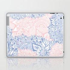 Modern pink rose quartz serenity blue mandala floral illustration Laptop & iPad Skin