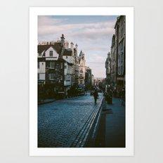 The Royal Mile in Edinburgh, Scotland Art Print