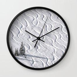 Powder tracks Wall Clock