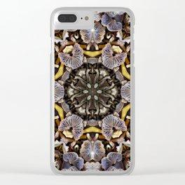 Mushroom Mandala Clear iPhone Case