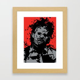August 18, 1973: Bloodstain Leatherface (color combination D) Framed Art Print