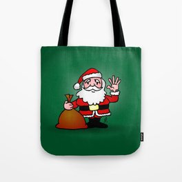 Santa Claus waving Tote Bag