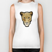 lesbian Biker Tanks featuring The Lesbian & the Lioness by BinaryGod.com