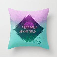 Stay wild moon child (Summer) Throw Pillow