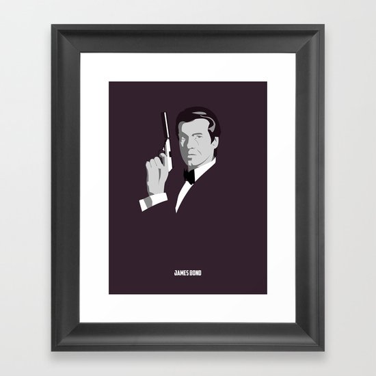 James Bond - Pierce Brosnan Framed Art Print
