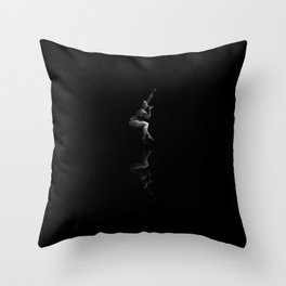 Pole dance dancer performs on stage Throw Pillow