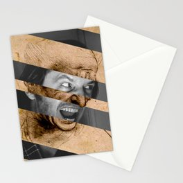 Leonardo da Vinci's Head for The Battle of Anghiari & Jack Nicholson Canvas Stationery Cards