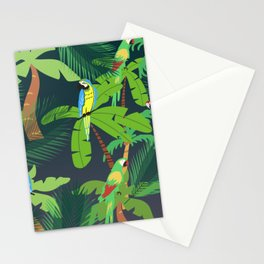 Parrots in Trees Stationery Cards