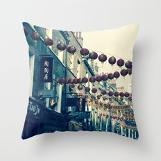 London Chinatown Throw Pillow