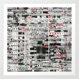 Natural Selection Doesn't Play Fair (P/D3 Glitch Collage Studies) Art Print