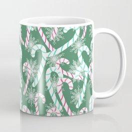 Frosty Canes Green Coffee Mug