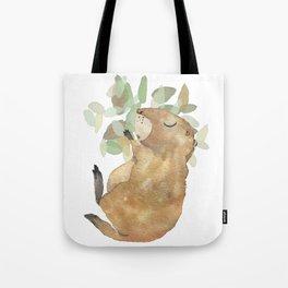 Black Tailed Prairiedog - Sleeping Animals Tote Bag