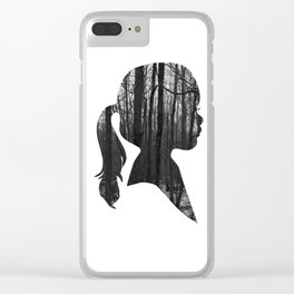 Forest girl Clear iPhone Case
