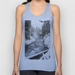 The Wild McKenzie River Waterfall - Nature Photography Unisex Tank Top
