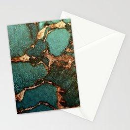EMERALD AND GOLD Stationery Cards
