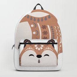 Folkloric Christmas Winter Fox Backpack