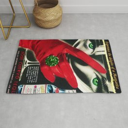 1962 Jose Cuervo Tequila 'Green Motif' Advertisement Poster Rug