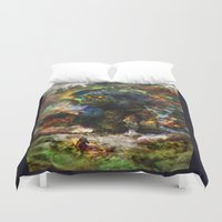 ashton irwin Duvet Covers featuring shadow of the witcher by ururuty