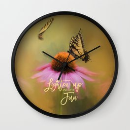 Butterflies At Play Wall Clock
