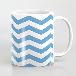 light blue chevron pattern Coffee Mug