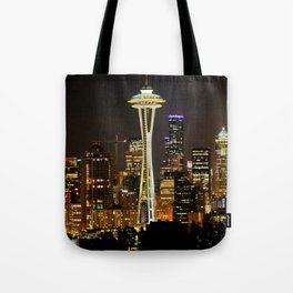 Seattle Space Needle & Cityscape Tote Bag