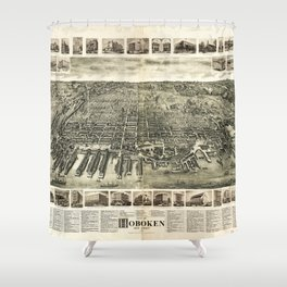City of Hoboken, New Jersey (1904) Shower Curtain