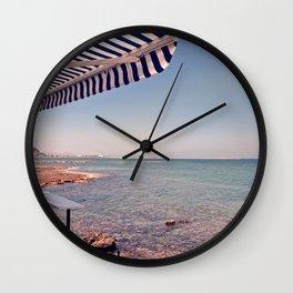 Spanish Beachside Brunch Wall Clock