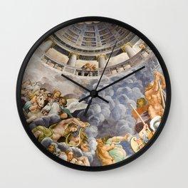 Italian mythological Renaissance fresco  Wall Clock