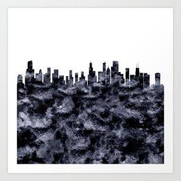 Chicago Skyline Illionois Art Print