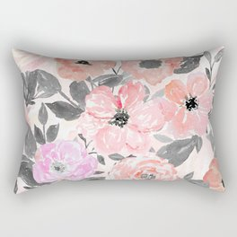 Elegant simple watercolor floral Rectangular Pillow