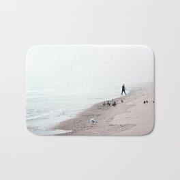 Surfing Where the Ocean Meets the Sky Bath Mat