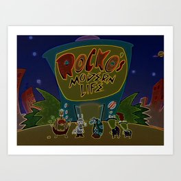Rocko And The Crew Art Print