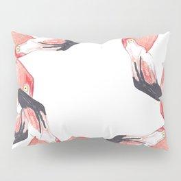 Red Flamingos Pillow Sham